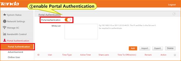 G3-How to setup the Portal Authentication-Tenda India