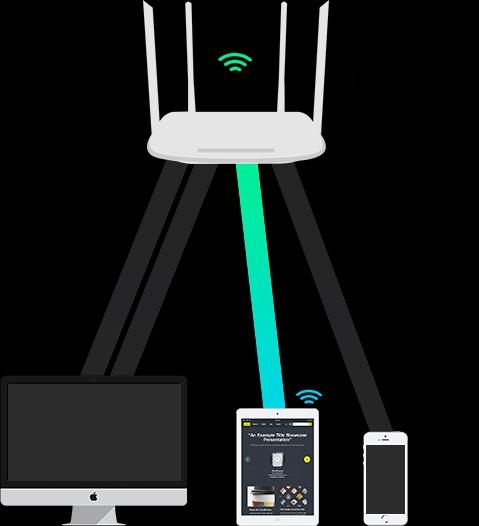 Tenda AC10 AC1200 Smart Dual-Band Gigabit WiFi Router-Tenda-All For
