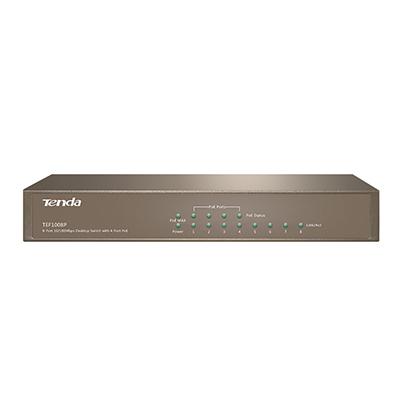 TEF1008P-8-Port 10/100Mbps Desktop Switch with 4-Port PoE