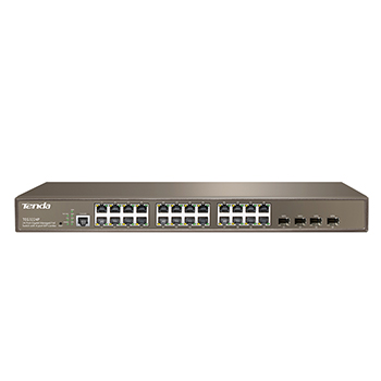 TEG3224P-24-Port 10/100/1000Mbps with 4 Shared SFP PoE Managed Switch