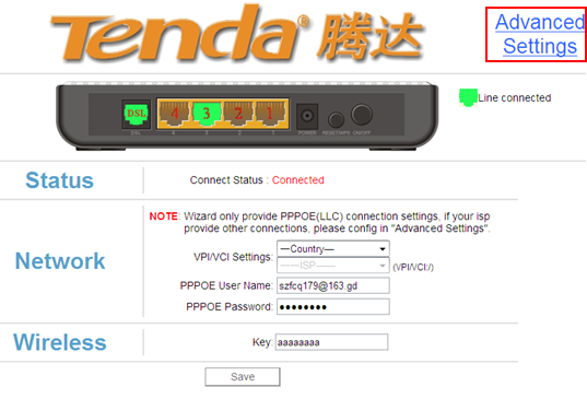 How to login to the tenda w150d.
