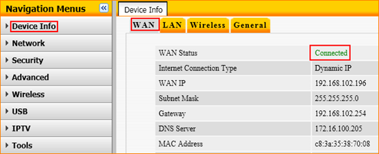 how to change band settings on router