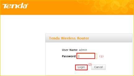tenda username and password